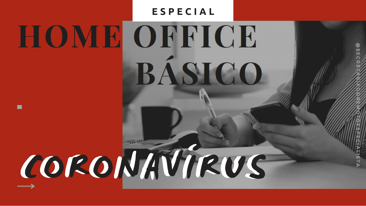 Título de Vlog Miniatura do YouTube - Home Office em tempos de Coronavírus