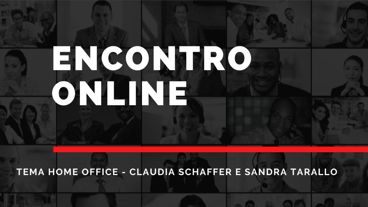 Cópia de Viagem Fotografia Miniatura do YouTube 1 - Encontro Online Claudia Schaffer e Sandra Tarallo Tema Home Office