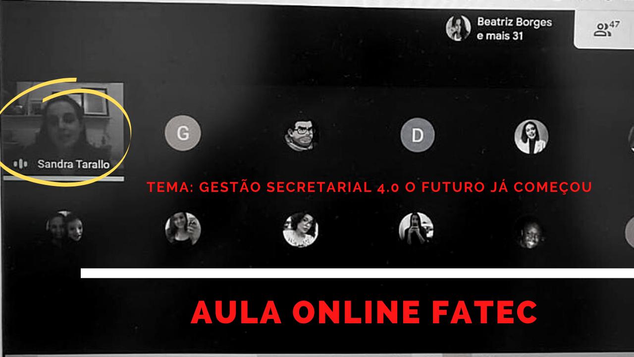 aula fatec secretariado remoto - Blog